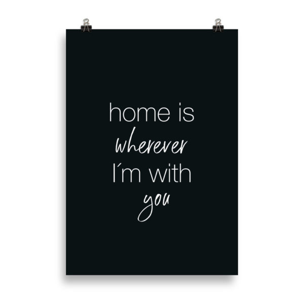 Home Quote B&W - Word Print by Candima