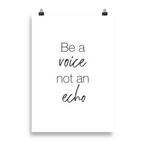 Be a voice! - Word Print by Candima