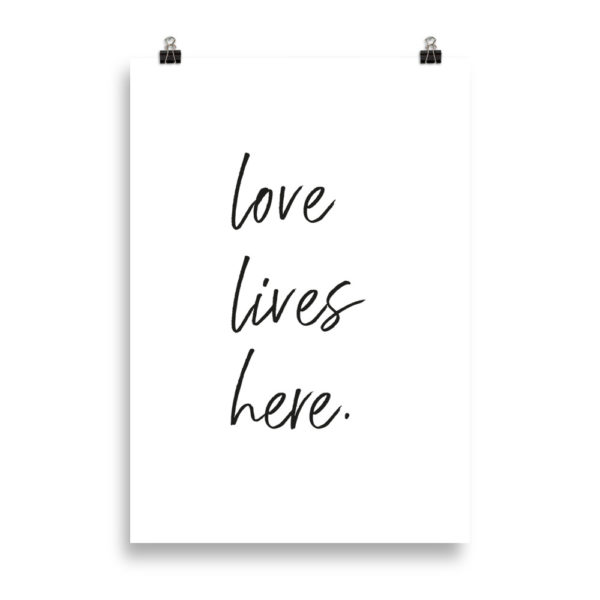 love lives here - Word Print by Candima