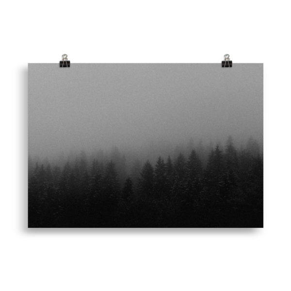 Moody Forest - Winter Print by Candima