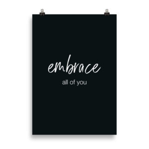 Embrace Quote B&W - Word Print by Candima